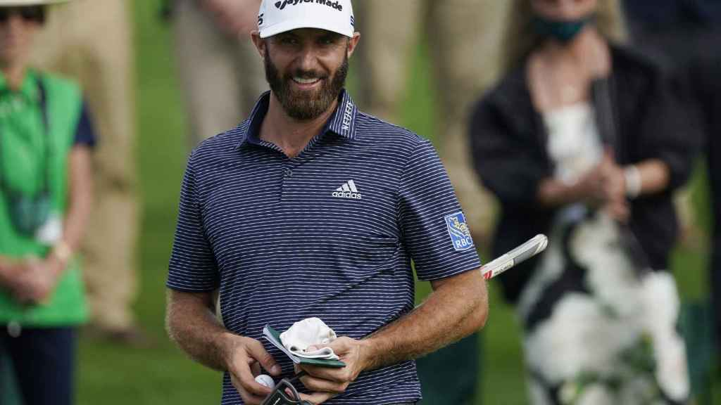 Dustin Johnson at the Augusta Masters