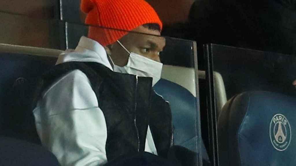 Kylian Mbappé, durante el partido entre el PSG y el Stade Rennais