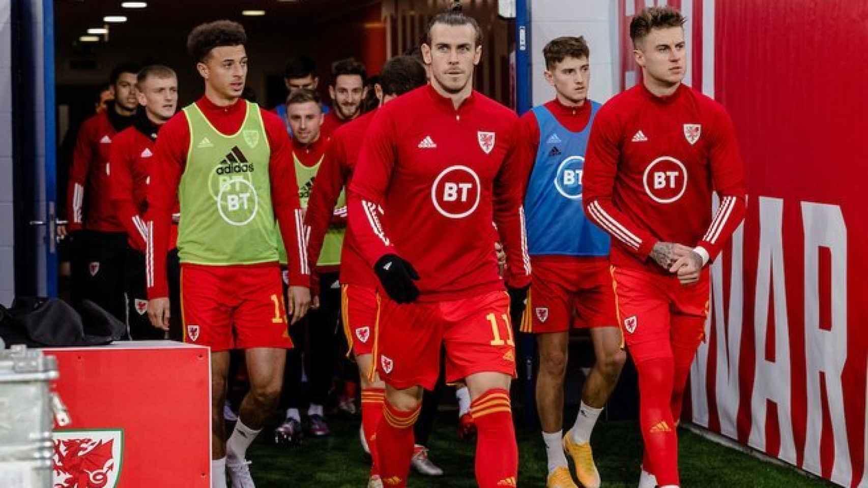 Bale con la selección de Gales