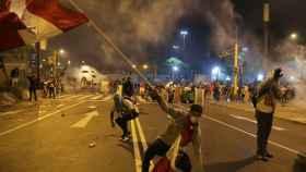 Manifestantes en Perú.
