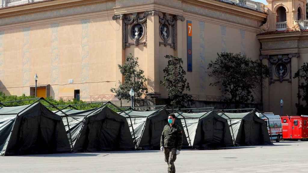 Campamento militar de la operación Balmis