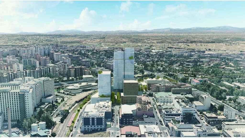 Otra imagen del proyecto que ha planteado Metrovacesa en en el antiguo complejo industrial Clesa de Madrid.