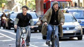 Un carril bici del centro de Barcelona.