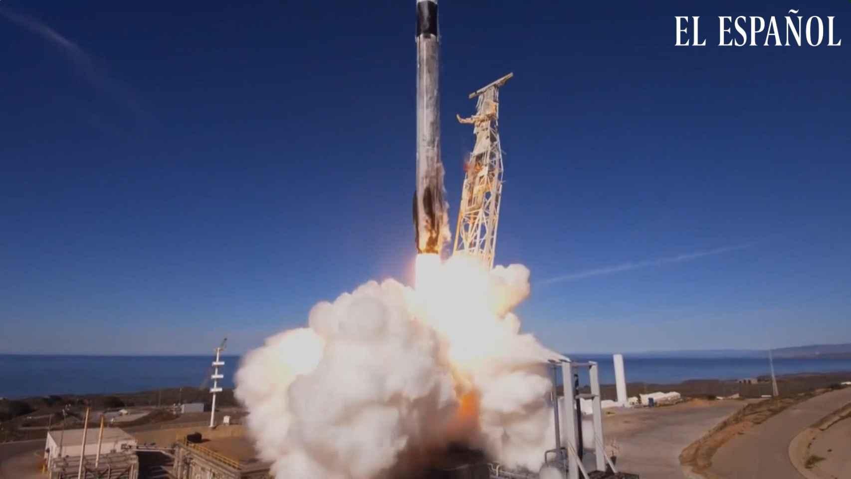 SpaceX difunde imágenes del despegue de Falcon 9
