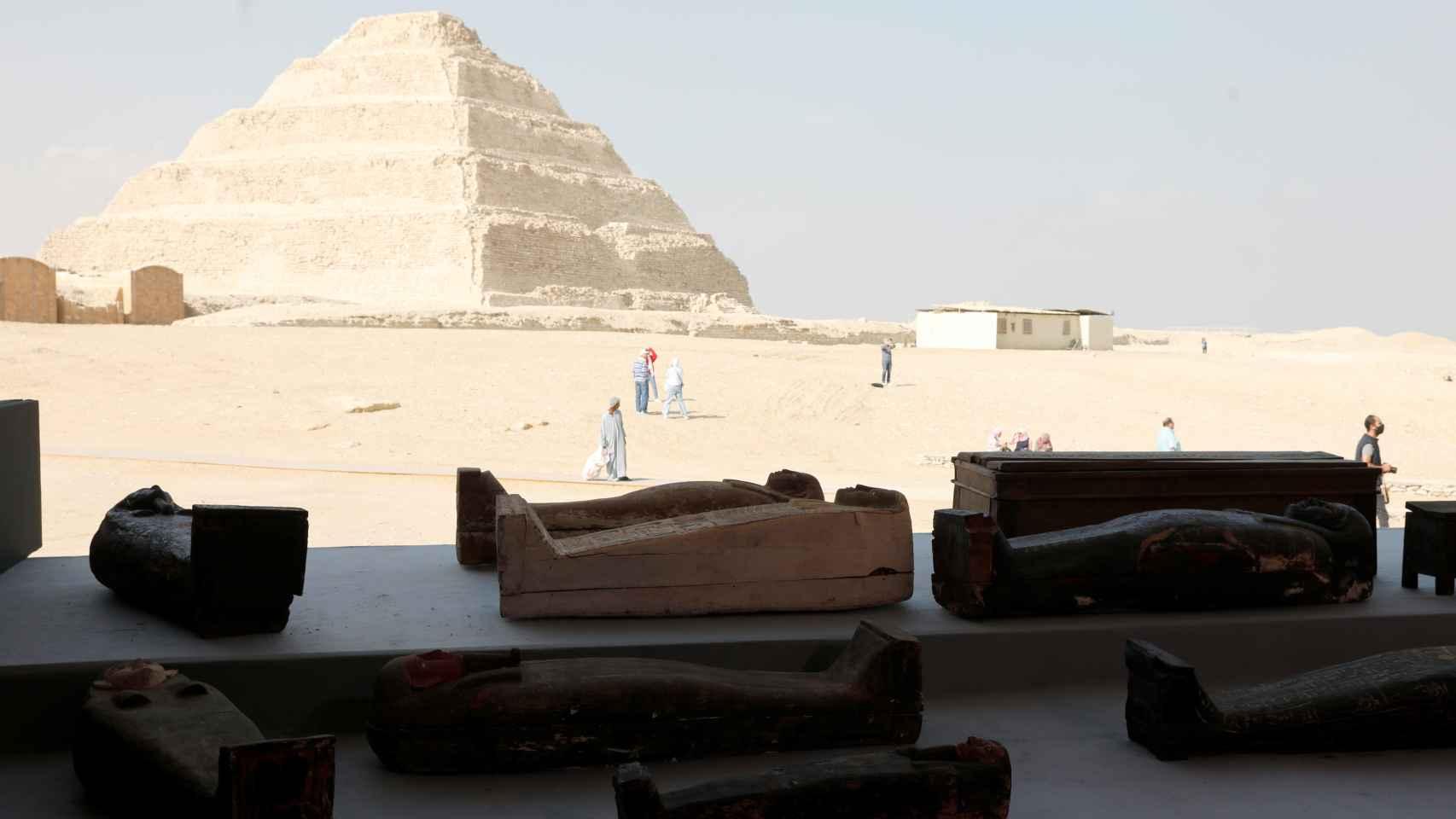 Presentación del último hallazgo en Saqqara del Antiguo Egipto.