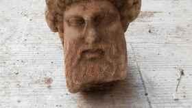 La cabeza del dios Hermes.