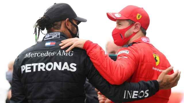 Vettel y Hamilton charlan tras el GP de Turquía