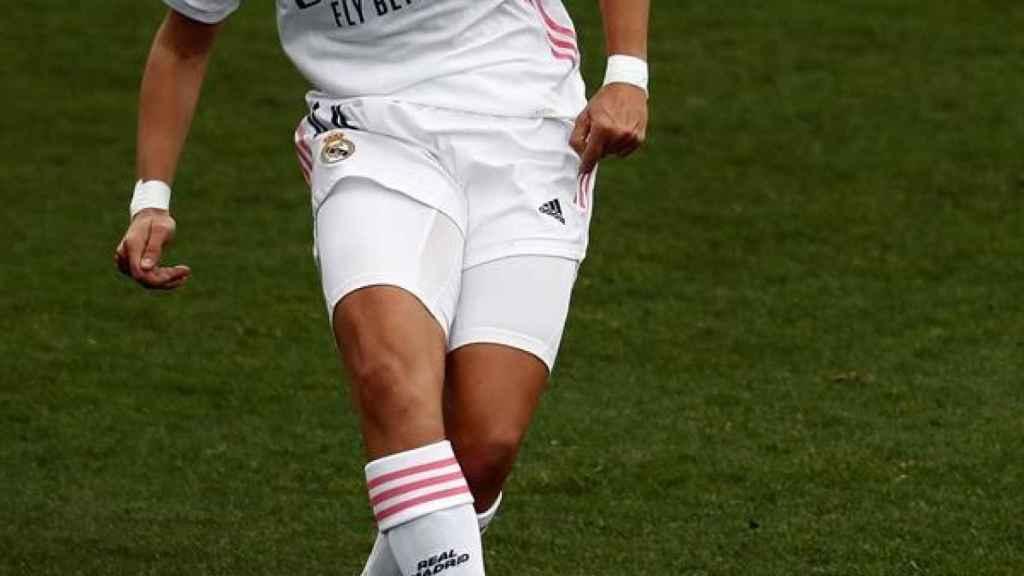 Marta Cardona, en un partido del Real Madrid Femenino en la Primera Iberdrola