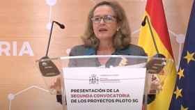 Nadia Calviño en la presentación de la convocatoria de proyectos piloto 5G