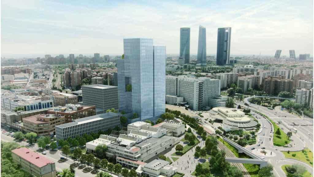 Imagen del proyecto que ha planteado Metrovacesa en en el antiguo complejo industrial Clesa de Madrid.