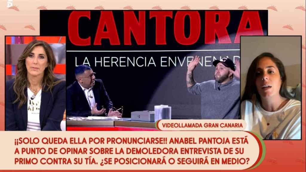 Anabel Pantoja, en directo en 'Sálvame'.