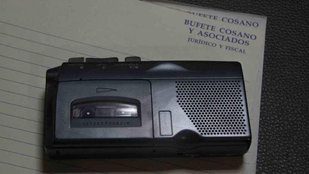 Grabadora utilizada por Francisco Holgado para infiltrarse en los bajos fondos de Jerez.