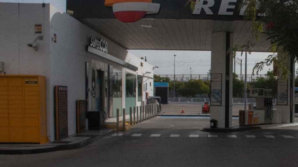 Aspecto actual de la gasolinera en la que se produjo el asesinato.