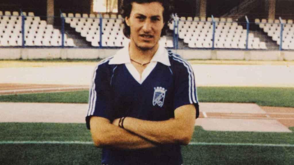 Foto de Juan cuando era jugador de las categorías inferiores del Xerez.