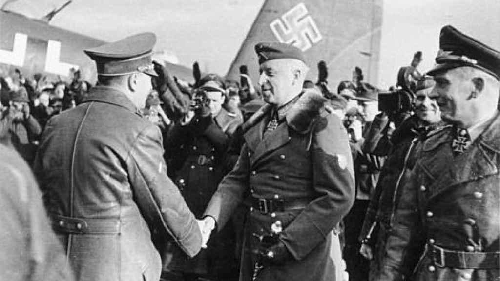 Hitler y Manstein en Zaporozhye (1943).
