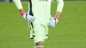 Thibaut Courtois, durante el partido entre el Real Madrid y el Valencia