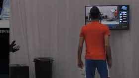 Djokovic y su reacción mientras Nadal se la jugaba ante Thiem