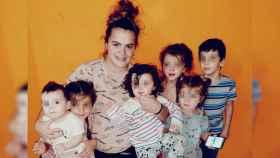 Bárbara y sus seis hijos.