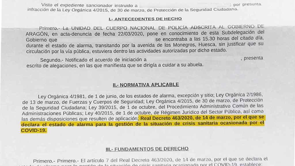 Resolución sobre el recurso de Teruel.