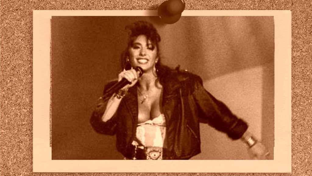Sabrina Salerno en un fotomontaje de 'JALEOS'.