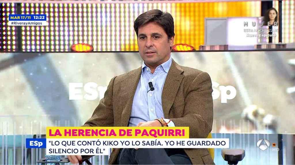 Fran Rivera asegura que hay muchas personas que impidieron que se cumpliera la última voluntad de Paquirri.