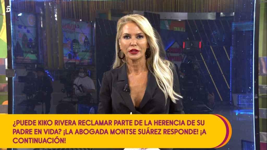 Montse Suárez, la abogada de 'Sálvame'.