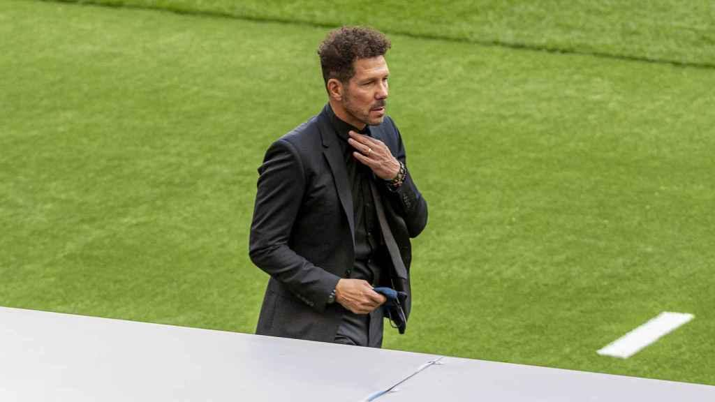 Diego Pablo Simeone, durante un partido del Atlético de Madrid
