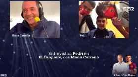 Manu Carreño, con Pedri en 'El Larguero'