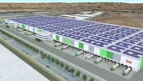 Maqueta de la futura planta logística de DIA en Illescas