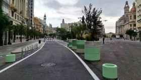 Vista de la Plaza del Ayuntamiento de Valencia. EE