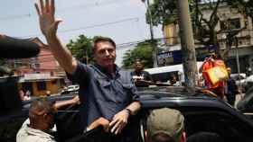 Bolsonaro durante la jornada electoral de este domingo.