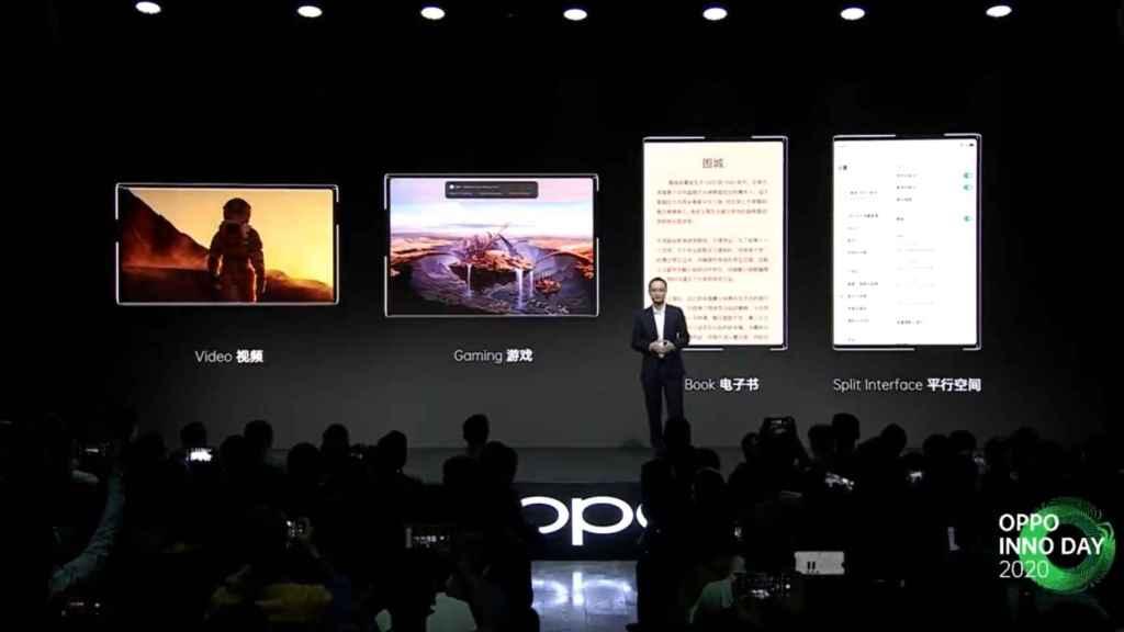 El Oppo X 2021 puede expandir su pantalla de 6,7 pulgadas a 7,4 pulgadas.