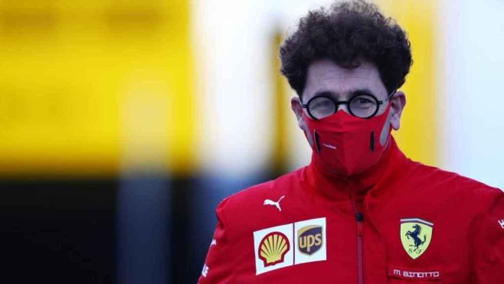 Mattia Binotto, jefe de la escudería Ferrari, durante un Gran Premio de Fórmula 1 de 2020