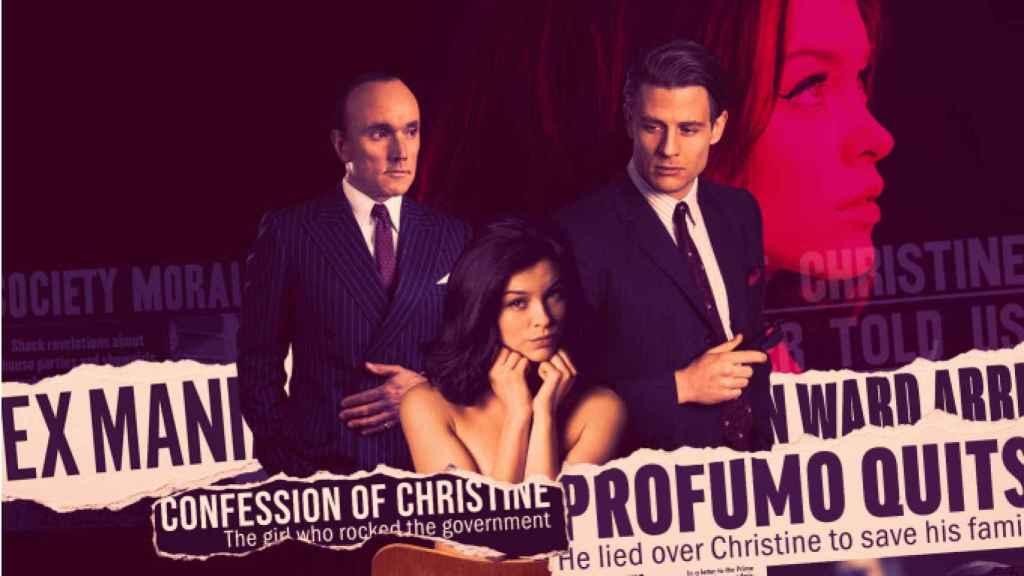 Cartel promocional de la miniserie de la BBC, 'The trial of Christine Keeler'.
