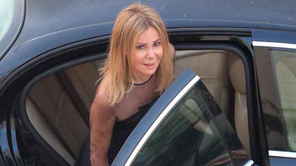 Ana Obregón, el día del funeral de Álex Lequio.