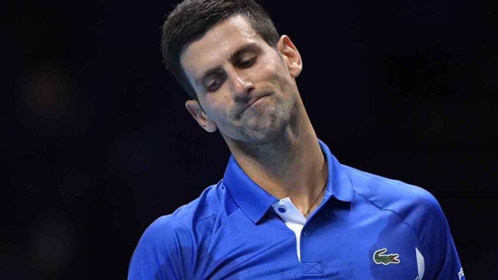 Djokovic se lamenta durante un partido