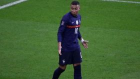 Kylian Mbappé, en un partido de la selección de Francia. Foto: Instagram (@k.mbappe)