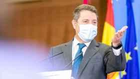 El presidente de Castilla-La Mancha, Emiliano García-Page, durante la presentación del proyecto