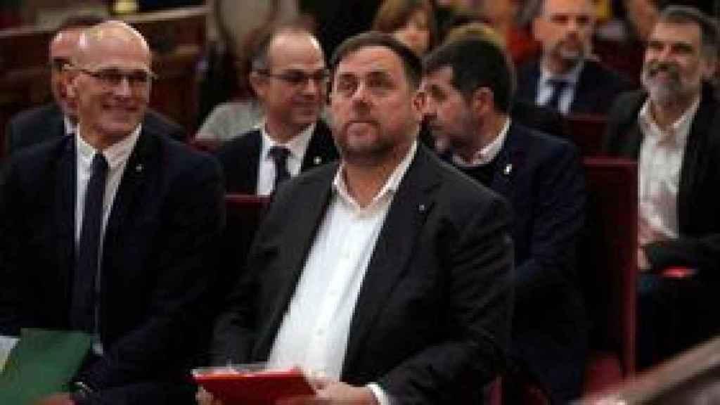 Oriol Junqueras, durante una sesión del juicio por el que terminó siendo condenado por sedición.