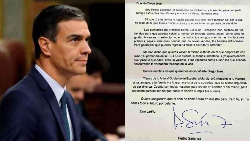 La carta de Pedro Sánchez a Diego José, niño de once años de Cartagena.