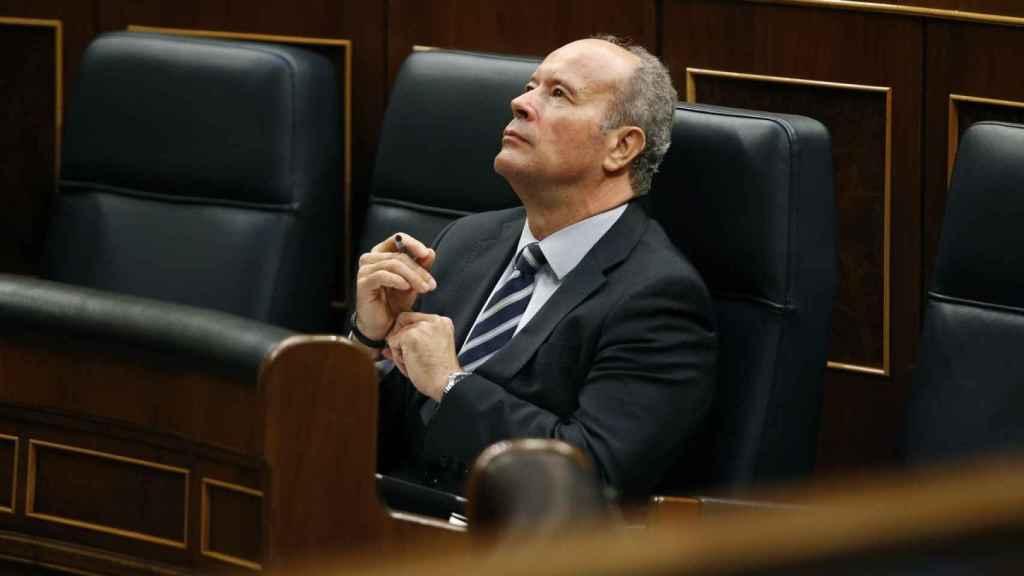 El exministro de Justicia, Juan Carlos Campo, en el Congreso.