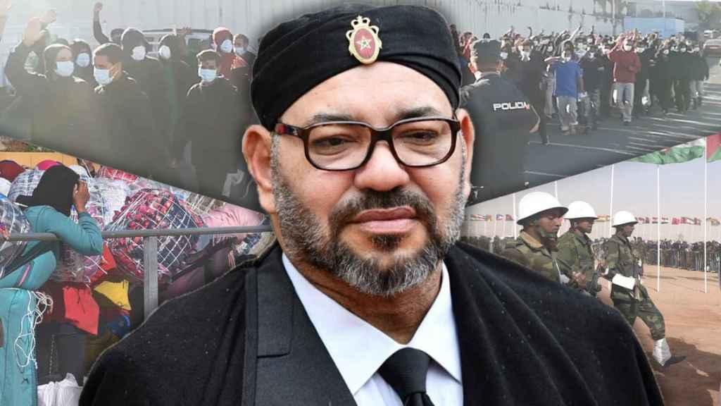 Mohamed VI ha abierto tres frentes contra España.