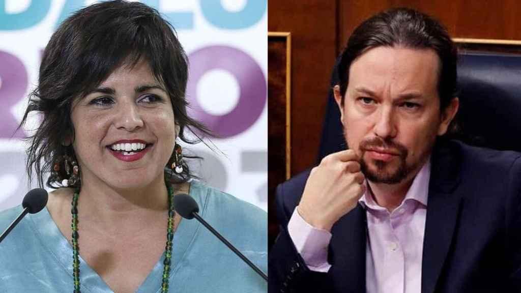 Teresa Rodríguez y Pablo Iglesias en un fotomontaje.