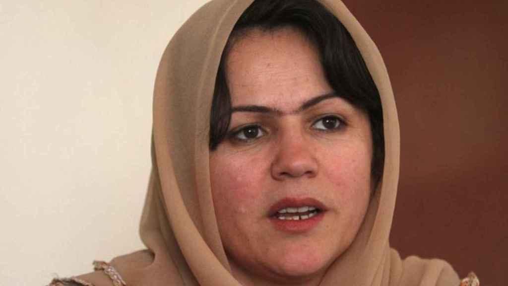 Fawzia Koofi durante una entrevista en Kabul en 2012.