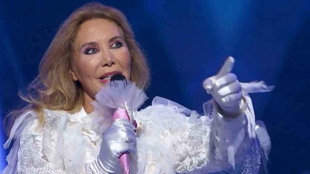 Norma Duval tras quitarse la máscara en 'Mask Singer'.