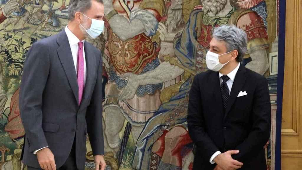 El Rey Felipe VI ha recibido a Luca de Meo, consejero delegado de Renault, esta semana.