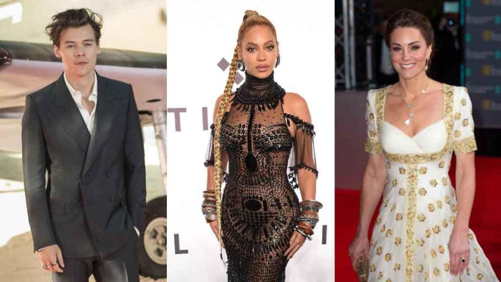 Harry Styles, Beyoncé y Kate Middleton.
