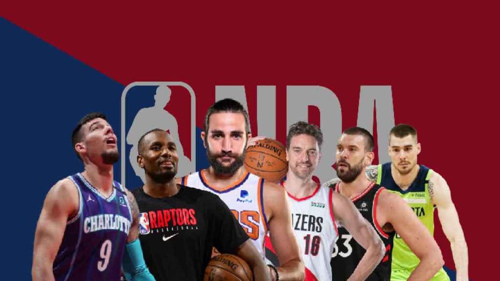 Willy, Ibaka, Ricky, Pau, Marc y Juancho Hernángomez, españoles en la NBA