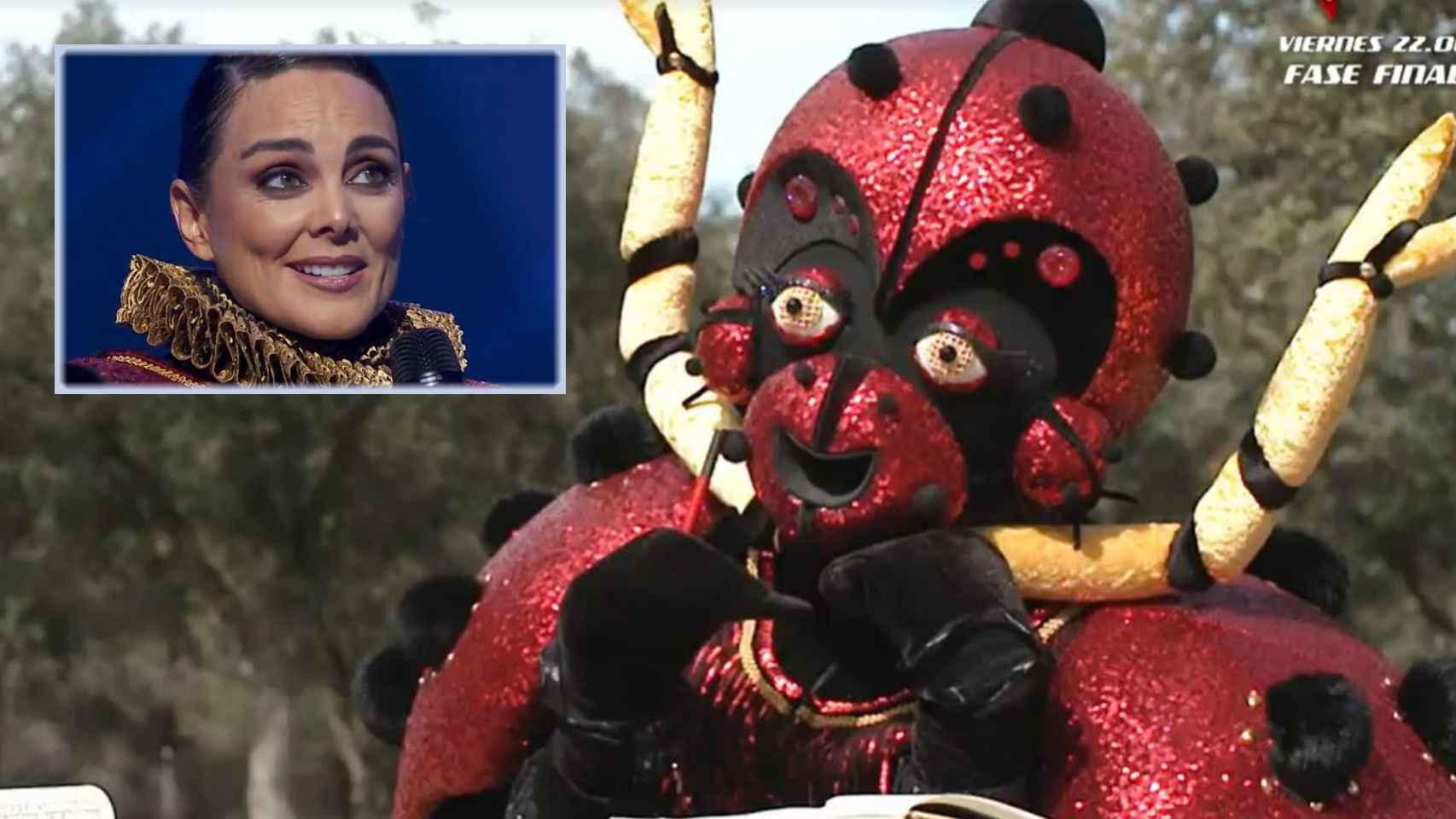 Mónica Carrillo tras quitarse la máscara en 'Mask Singer'.