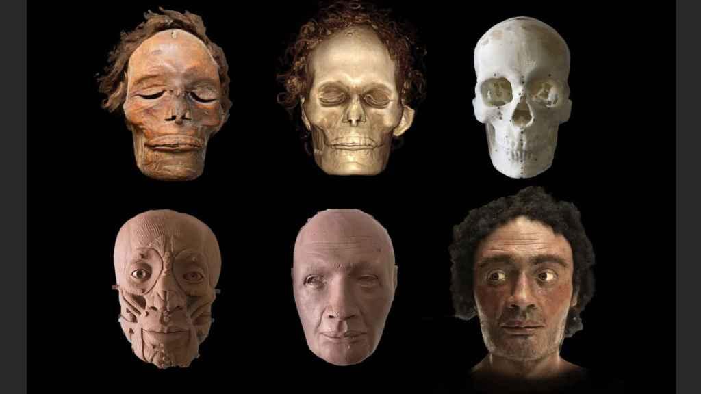 Reconstrucción facial de la momia guanche mejor conservada del mundo.